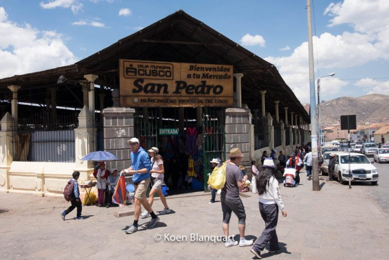 Entrance of the San Pedro Market in Cusco