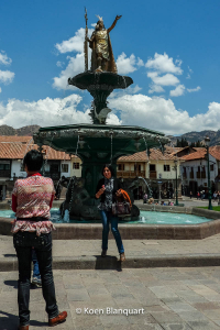 Pachacutec on the Plaza de Armas in Cusco, Peru