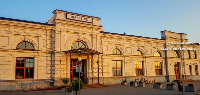 Train station in Bialystok, Poland