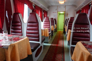 The Russian restaurant wagon on the Trans Siberian Railway