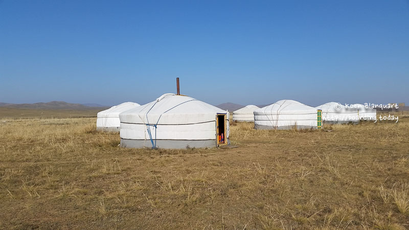Gers (Yurts) in Mongolia
