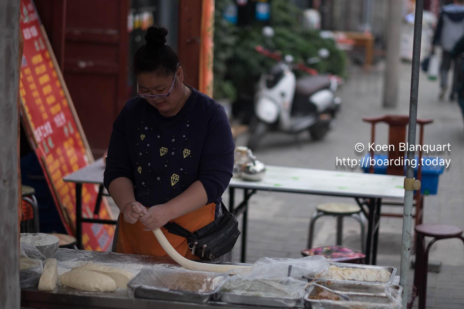 Preparing Chinese food