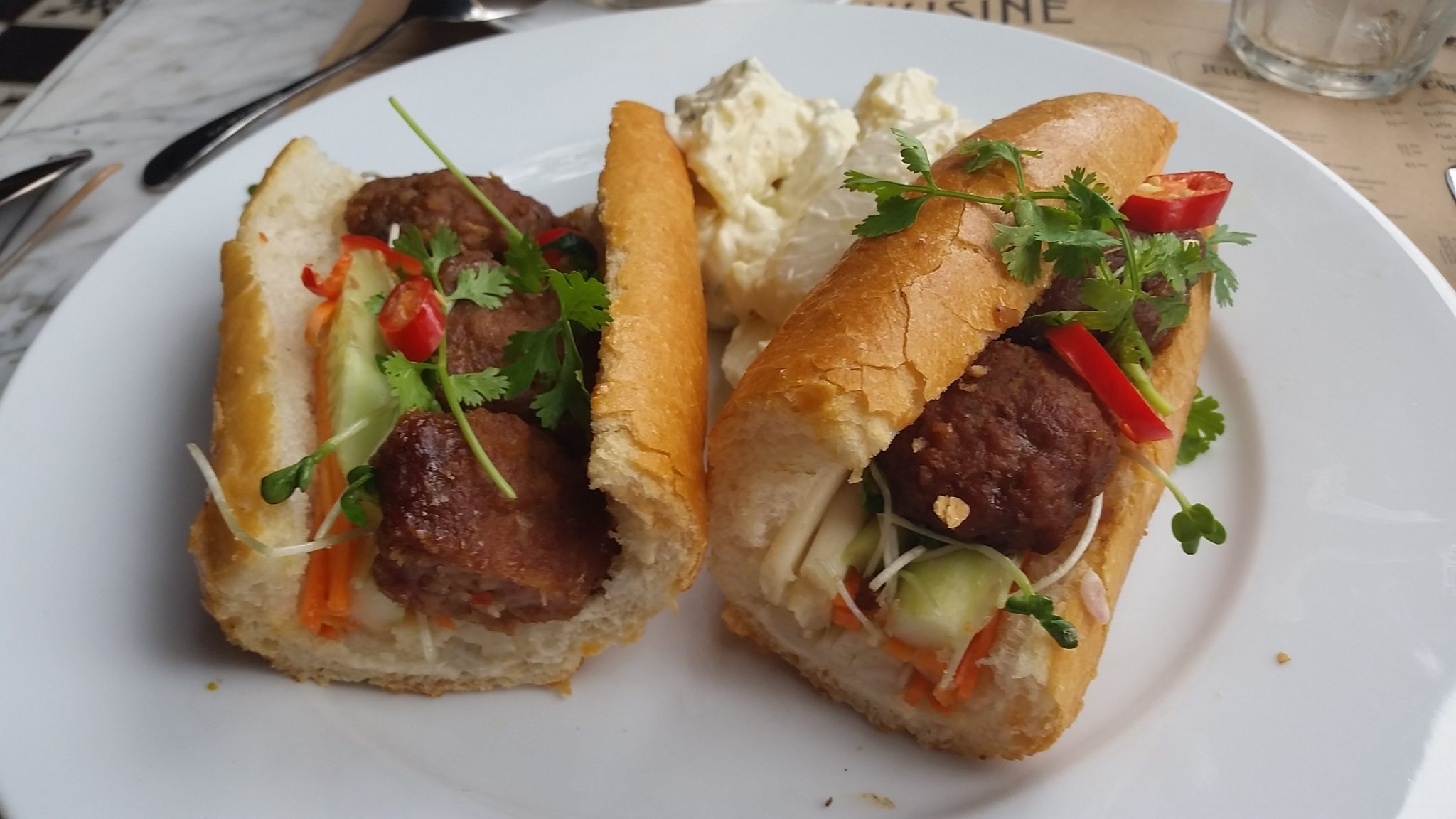 Vietnamese sandwich at L'Usine - Ho Chi Ming City
