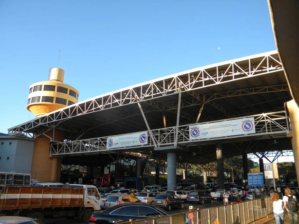 The border crossing at Ciudad del Este, Paraguay