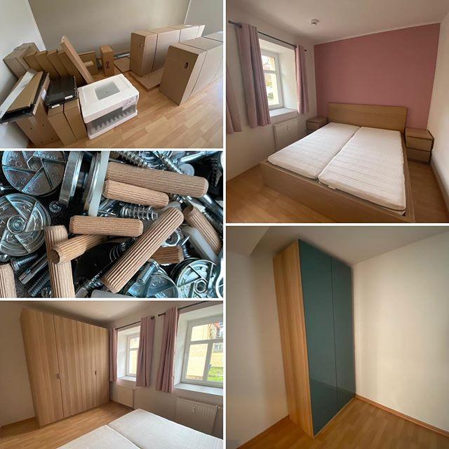 Apartment B für 4 Personen wird gerade fertig eingerichtet und ist ab Dezember zu buchen 🛠#boardinghouseammarkt #badlauchstädt #badlauchstaedt #ferienwohnung #fewo #monteurwohnung #möblierteswohnen