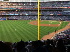Baseball game at Yankee Stadium