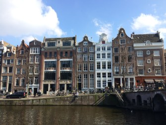 Charming canal houses in Amsterdam