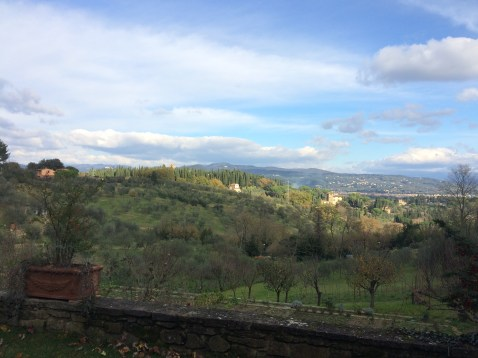 Tuscan view from the farmhouse