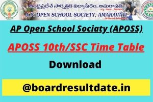 APOSS 10th Time Table