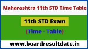 Maharashtra 11th STD Exam Time Table