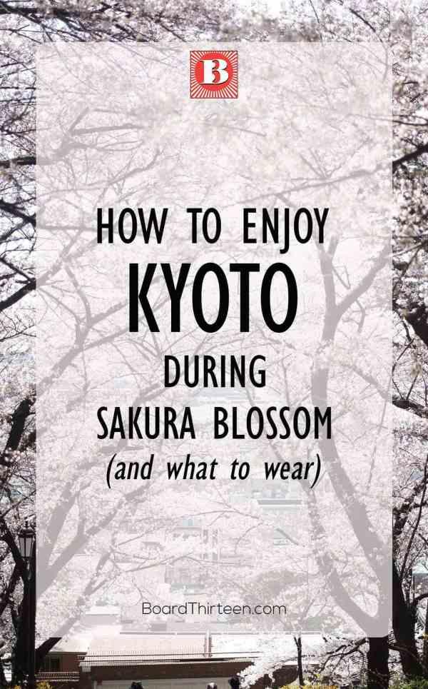 Kyoto during sakura blossom