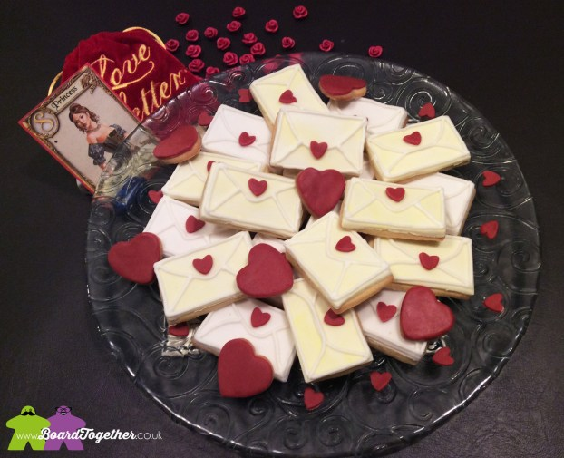 A mountian of Love Letter Cookies