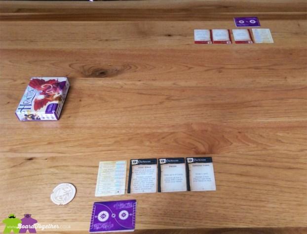 Hocus Cardgame 2 player setup