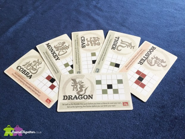 Onitama Boardgame Movement Cards