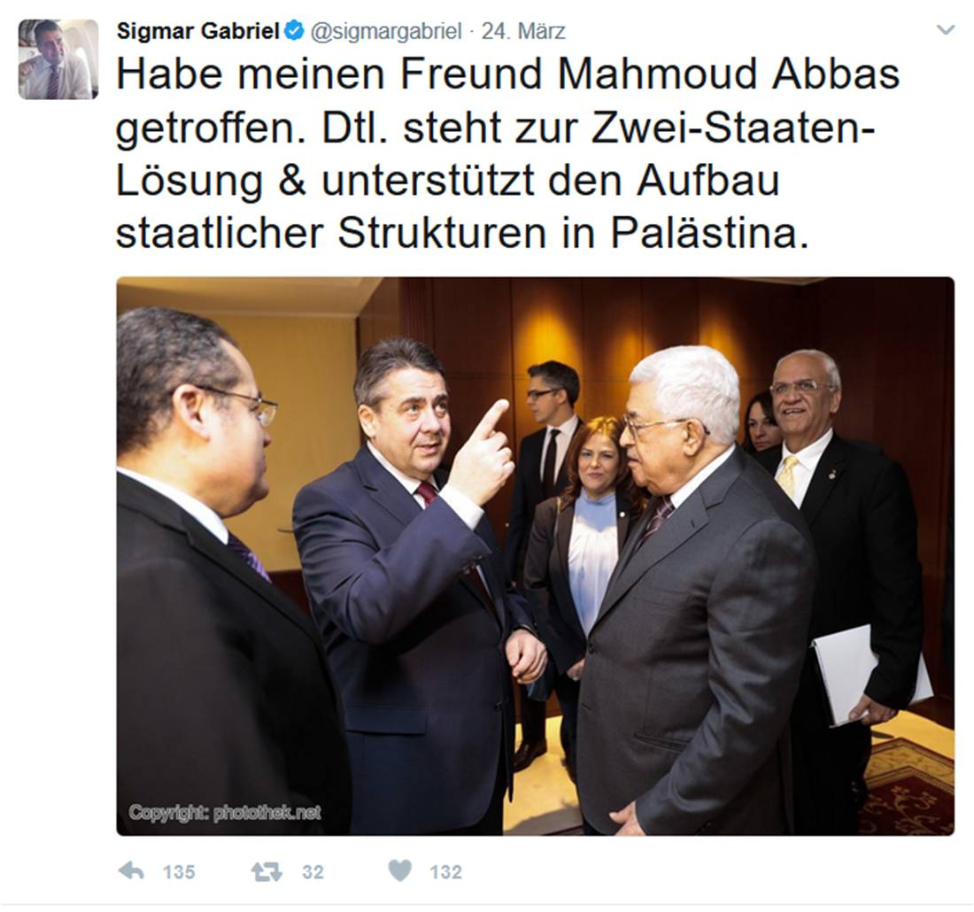 Die Antwort von Abbas' Freund