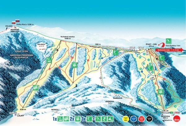 mapa SNOWPARADISE
