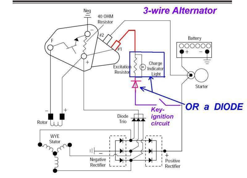 12 Volt Delco Alternator Wiring Diagram - Wiring Diagram