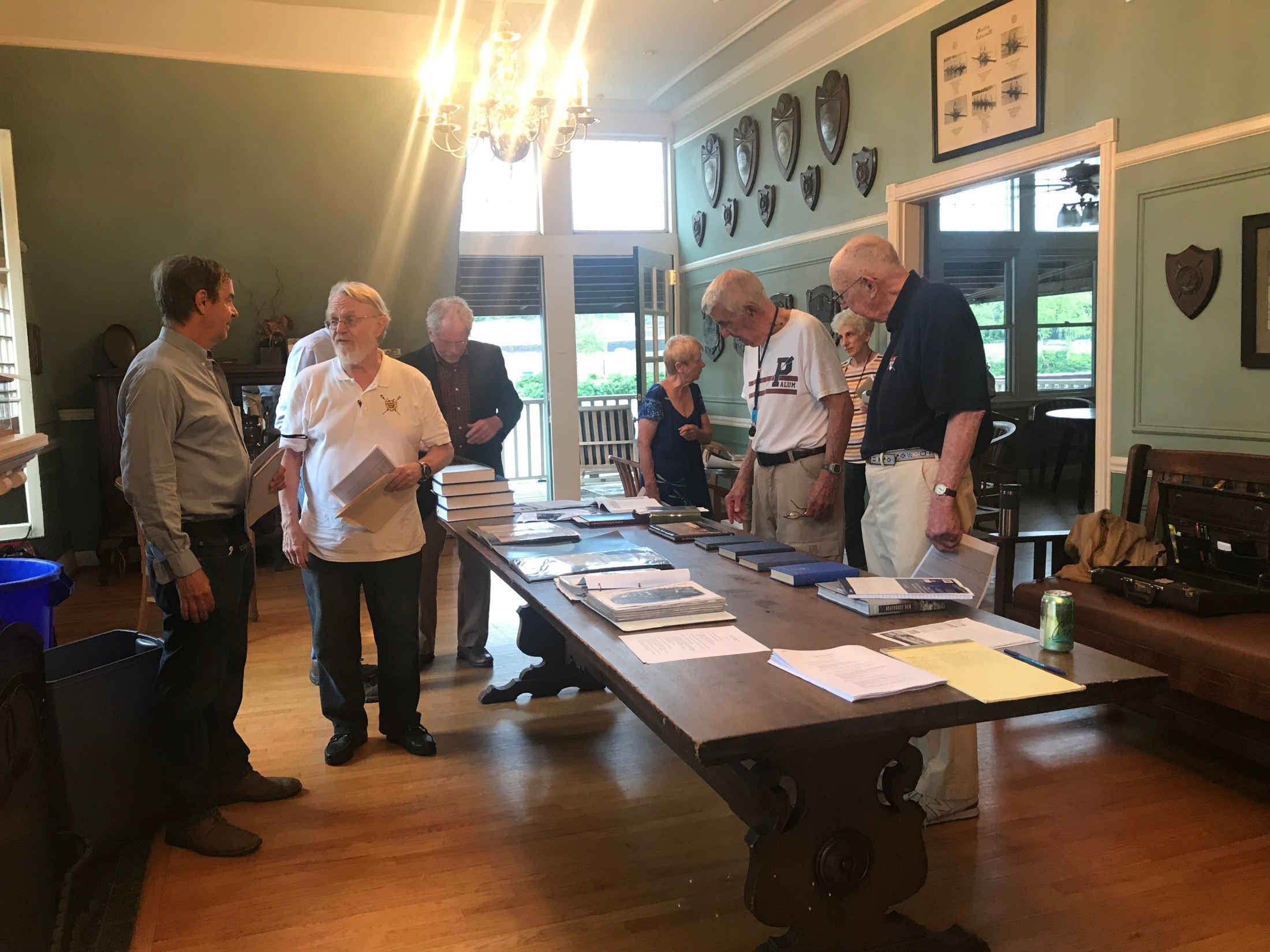 Boathouse Row history buffs eye documents at the Malta Boat Club