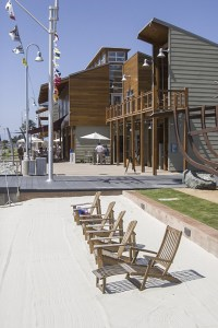 Simply adding seating gives users a reason to spend time at the marina.