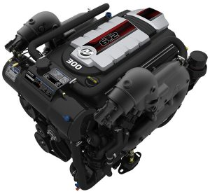 Mercury's 6.2-liter V8 300hp engine is the latest in the company's line of purpose-built sterndrives.