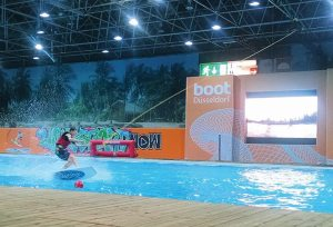 An indoor cable park gave attendees a chance to enjoy water sports.