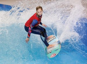 boot Düsseldorf featured the WAVE, where attendees could try surfing.