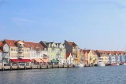 sønderborg denmark town harbour boats colorful sky