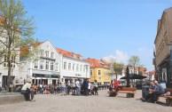 sønderborg denmark main street buildings town hall square