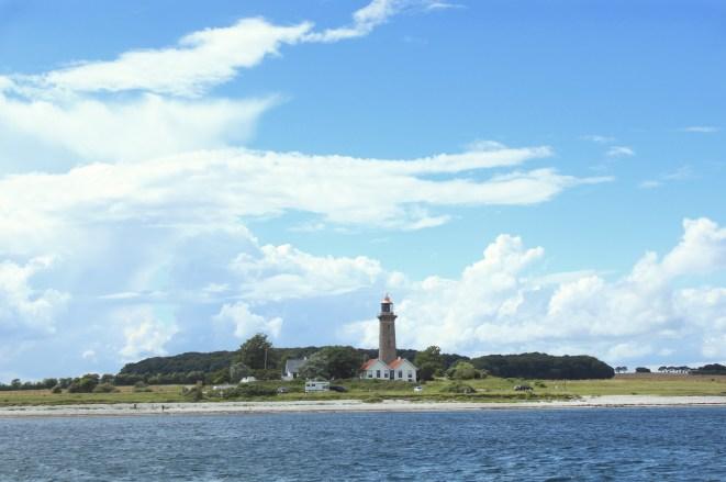 grenaa lighthouse water sky sun grena denmark
