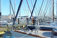 schlei kappeln grauhöft marina masts boats germany shadow