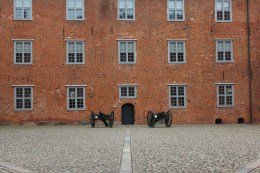 sønderborg castle windows guns canons brick red denmark
