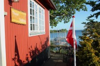 thurø thuro denmark water sky blue boats building