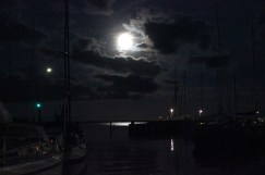 marina full moon dark black night denmark lundeborg