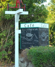 sejero corner sign cafe plant denmark island boatingthebaltic.com