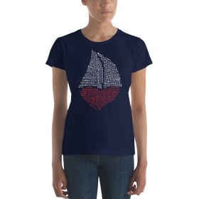 Sailor Virtues Red Heart T-shirt (Ladies)