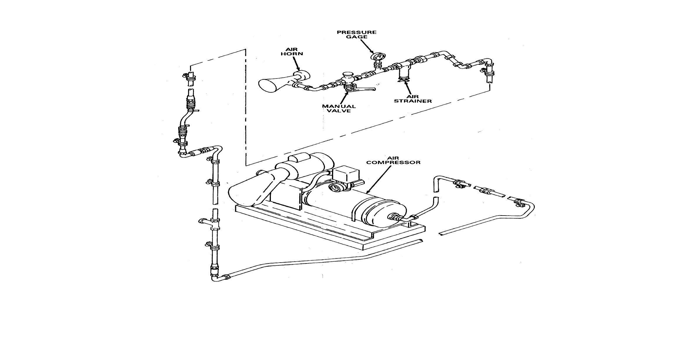 Fo 7 Air Horn Air Compressor System