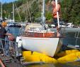 Havsörn II borsttvättas i BoatWasher Skurusundet