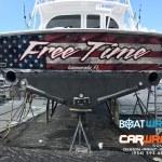 Custom Yacht Transom Wraps Fort Lauderdale Florida