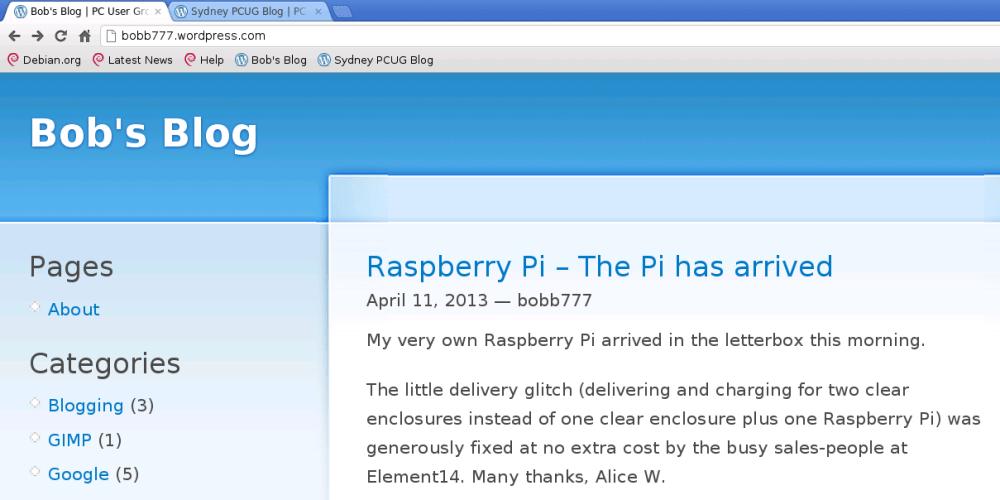 Raspberry Pi - Chromium browser