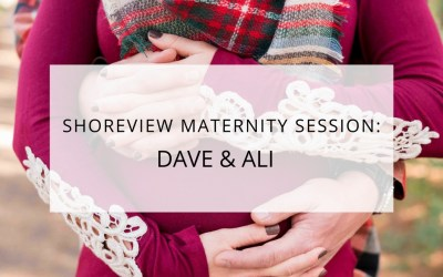 Shoreview Minnesota Fall Maternity Session: Ali & Dave