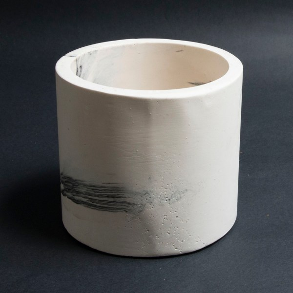 jesmonite marbled pot for plants and storage