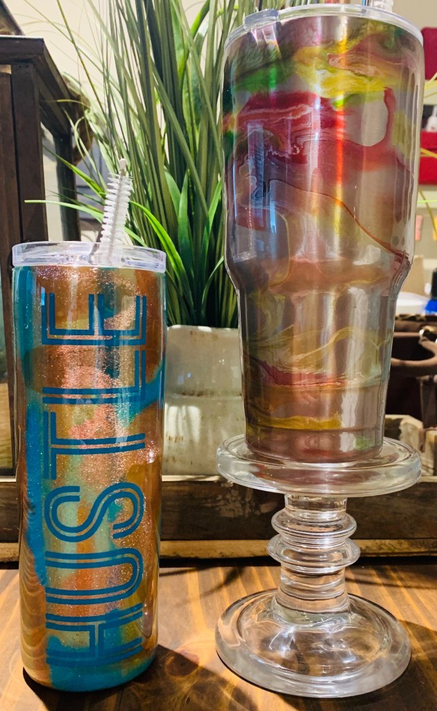 Coffee, Wine, and Water Glitter Epoxy Tumblers