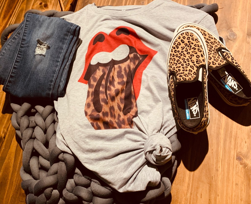 Sublimination Shirt Leopard Lips