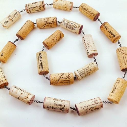 wine cork garland