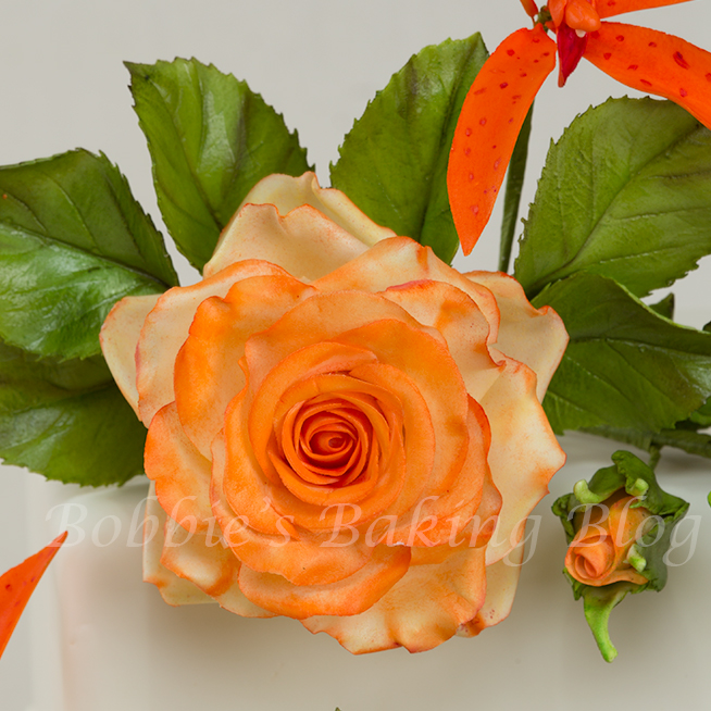 The Beautiful Sugar Paste Rose Spray Lesson Laurynst32