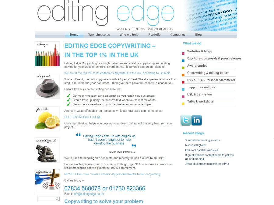 Editing Edge – Business Copywriting