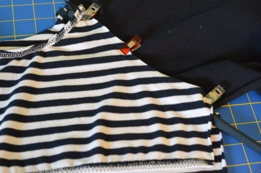 4. Add clips to the rest of these seams.
