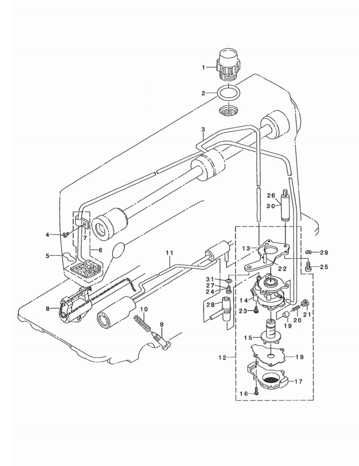 Lubricaton Oil Pump Assembly Part B 555 0a0 Juki
