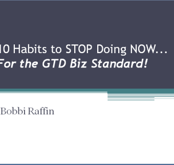 10 Bad Habits To Stop Doing_GTD Biz Standard