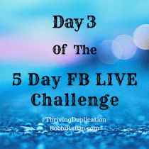 Day 3 of The 5 Day Facebook LIVE Challenge